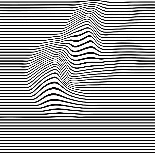 Pop Art Halftone Pattern of Wavy Lines vector art illustration