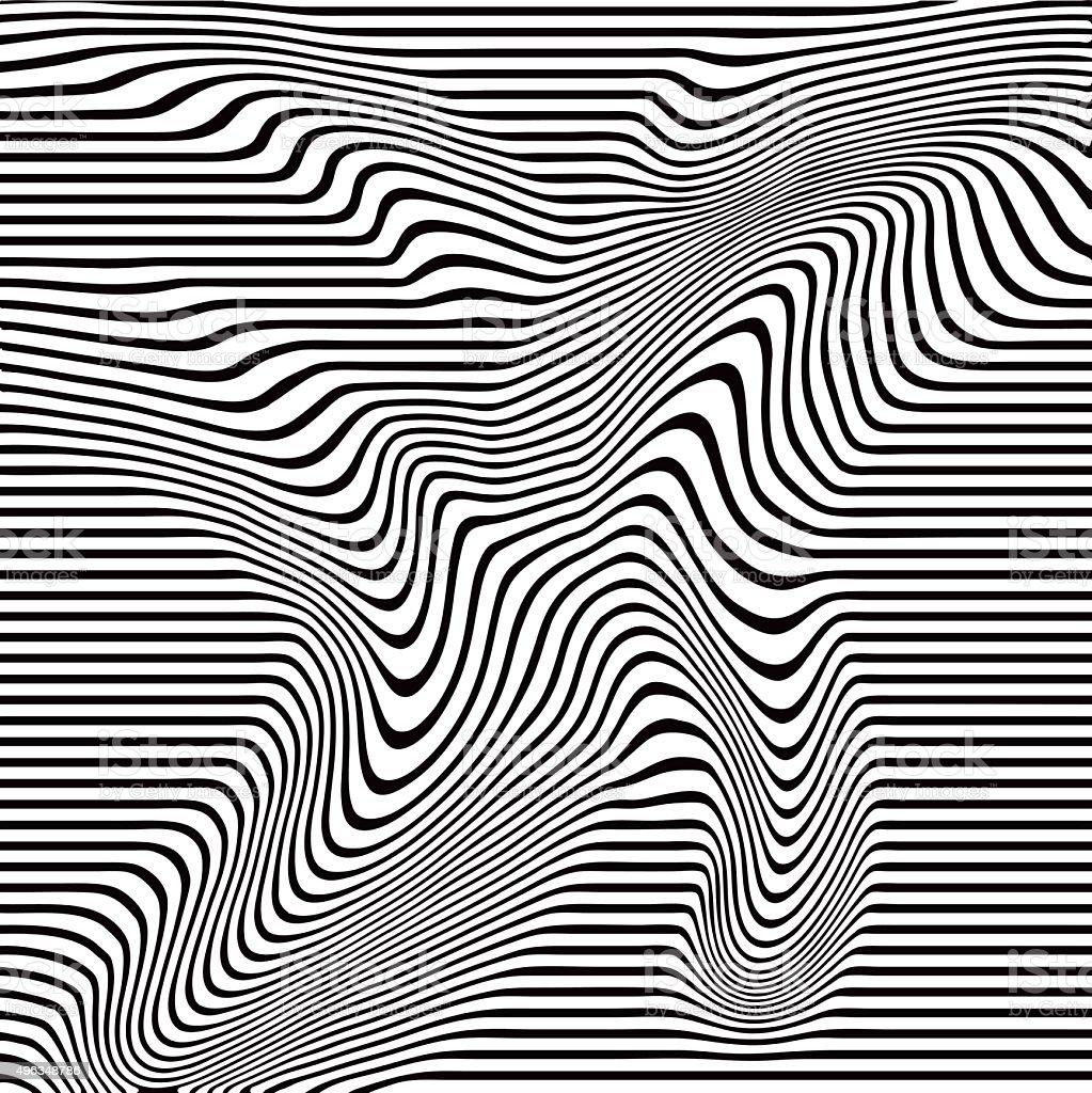 Drawing Vector Lines : Pop art halftone pattern of wavy lines stock vector