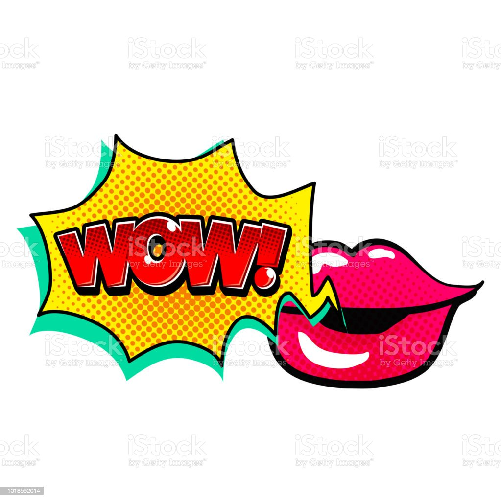Pop Art Lip Speech Wow Vector Image Stock Illustration Download Image Now Istock