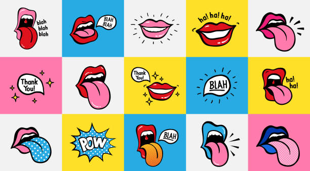 39 Drawing Of Sexy Lip Licking Illustrations Royalty Free Vector Graphics Clip Art Istock