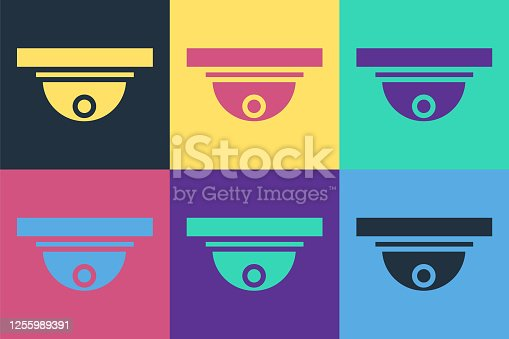 Pop art Motion sensor icon isolated on color background. Vector Illustration