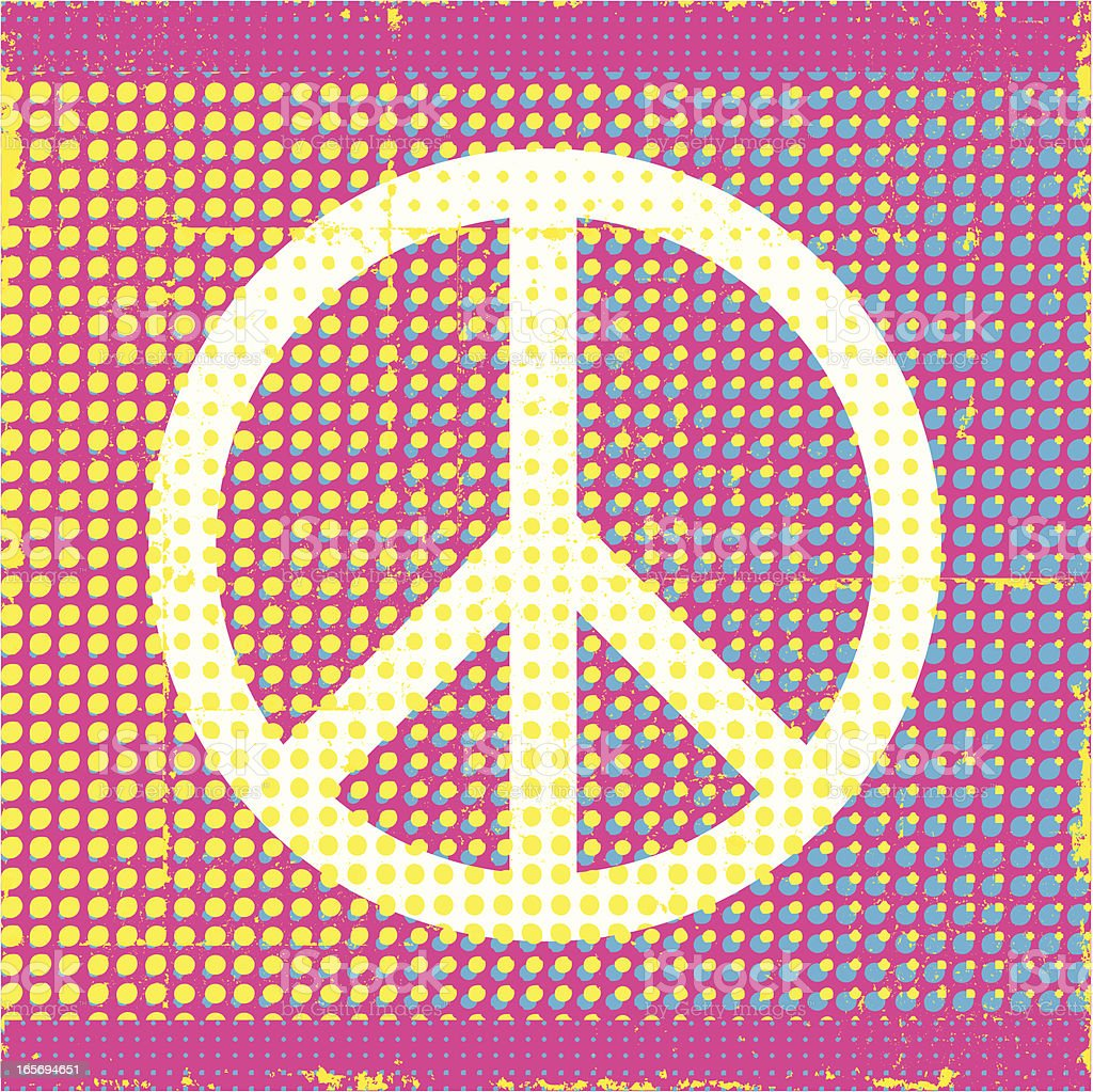Pop Art Peace Symbol Background royalty-free stock vector art