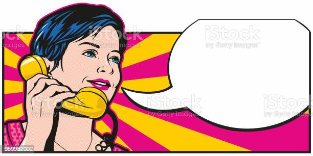 Pop Art Phonecall Stock Illustration - Download Image Now