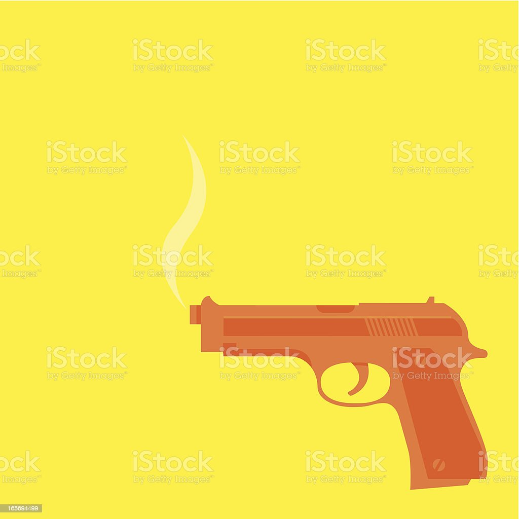 Pop art pistol background royalty-free stock vector art