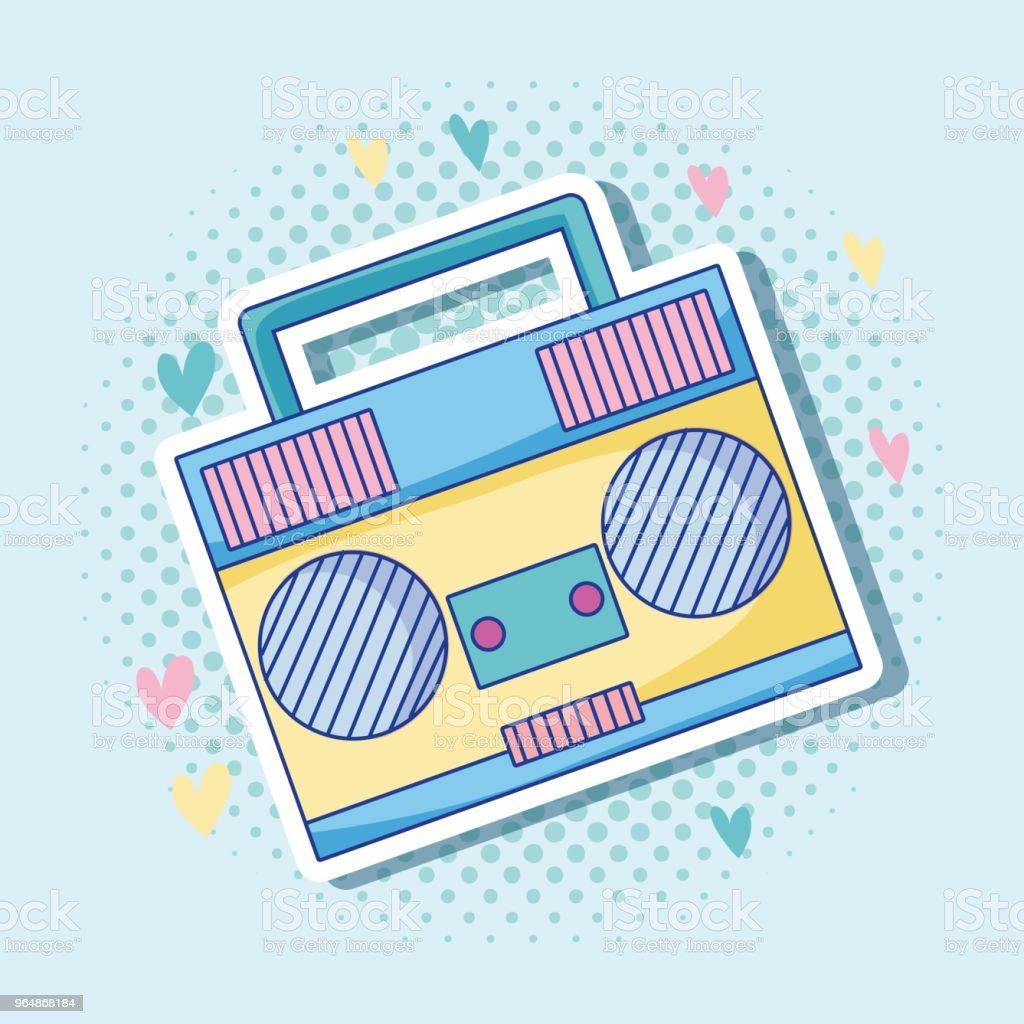 Pop art radio stereo cartoon royalty-free pop art radio stereo cartoon stock vector art & more images of 1980