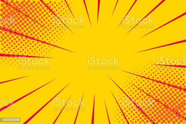 Pop art retro comic yellow background lightning blast halftone dots vector id949352536?b=1&k=6&m=949352536&s=612x612&h=kqeirzxzmdnxrmvoq0 hwdvlhyh3auk0jomxpz hmms=
