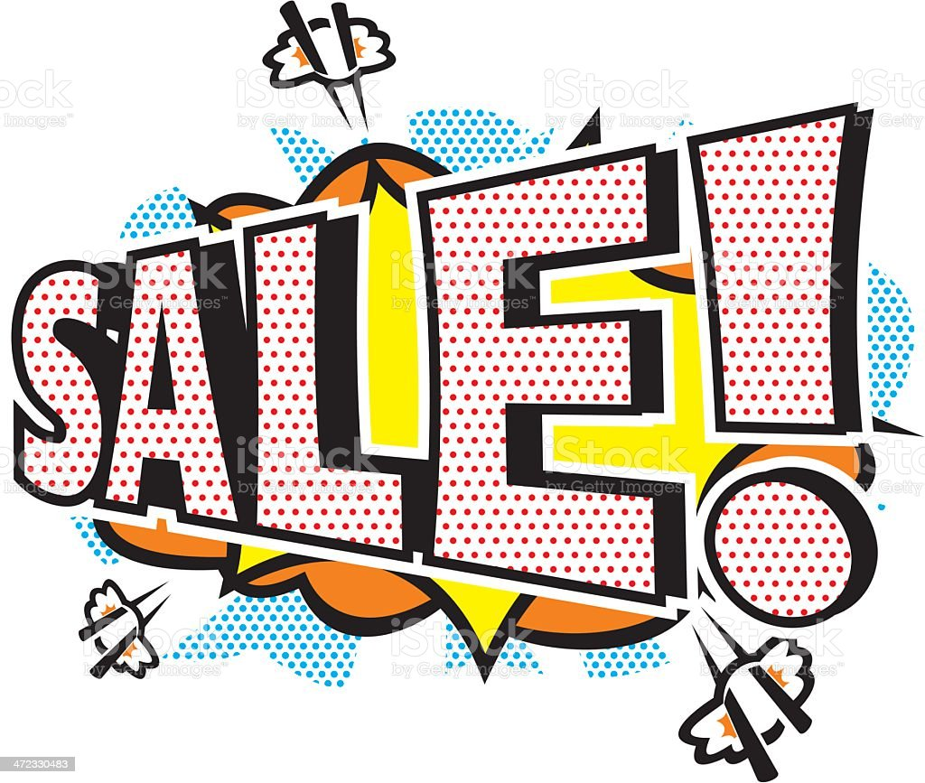 Pop Art Sale Icon royalty-free stock vector art