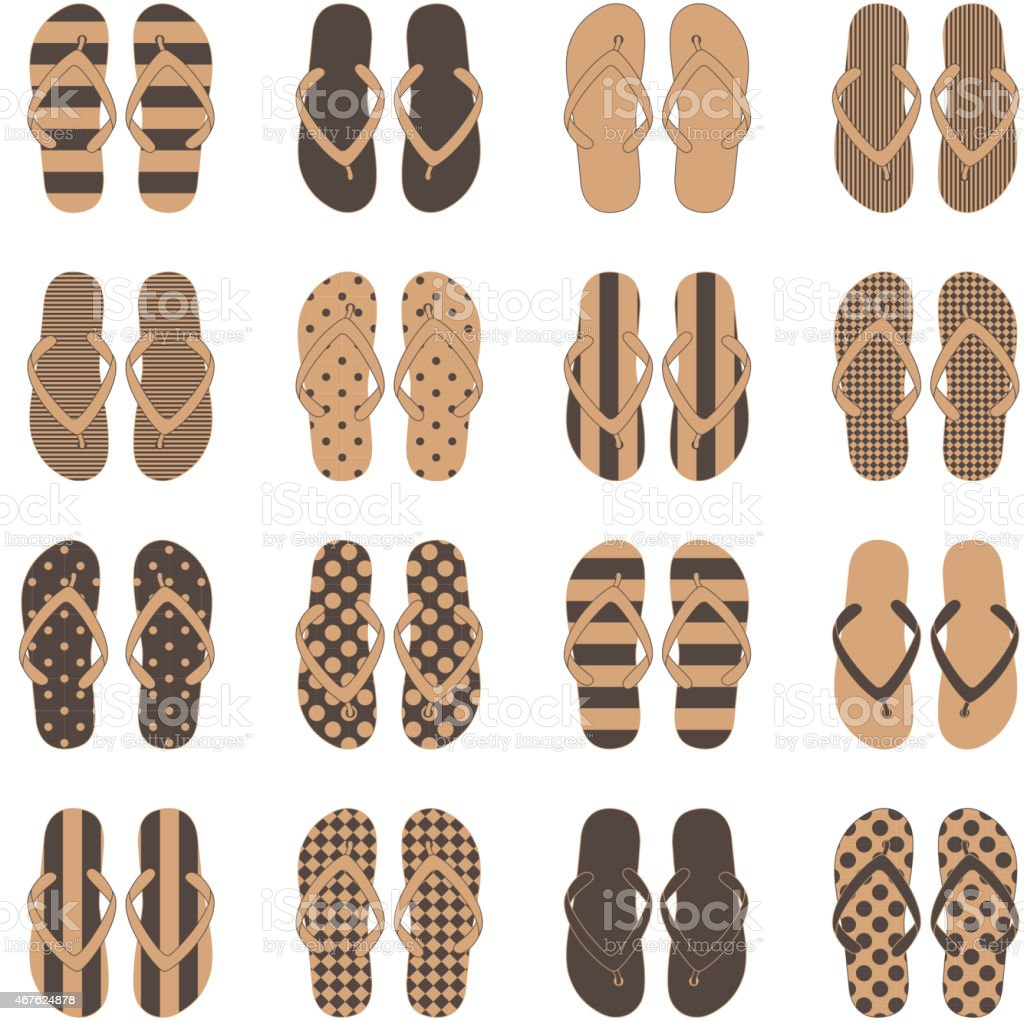 0d8b7a9f5 Pop Art style flip flops in a colorful checkerboard design royalty-free pop  art style