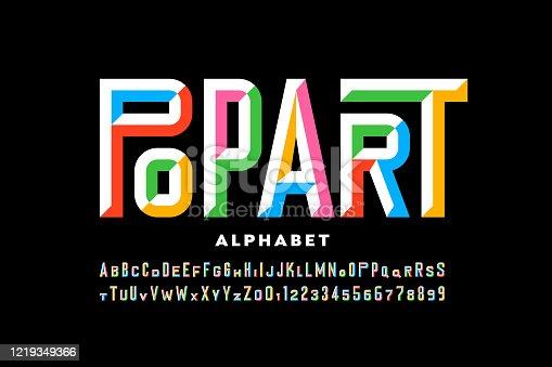 istock Pop art style font 1219349366