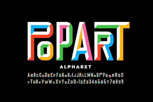 Pop art style font