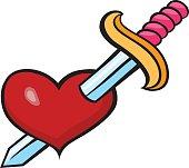 Pop art style heart sticker