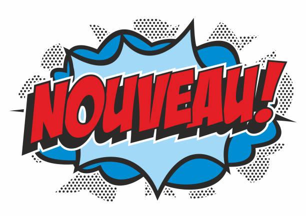 Pop art style 'NOUVEAU' vector art illustration