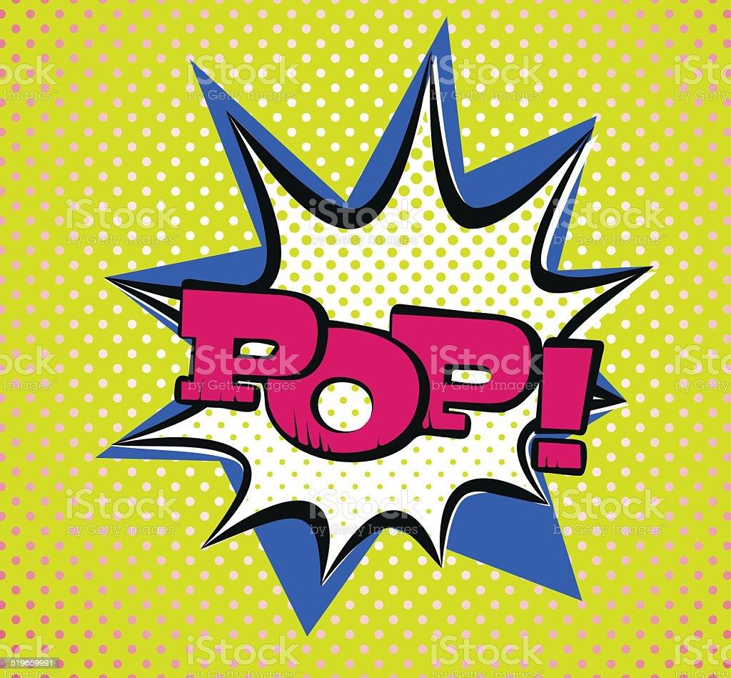 Pop Art Style Typography vector art illustration