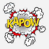 istock pop art style with halftone effect kapow 1248573043