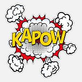 istock pop art style with halftone effect kapow 1248573043
