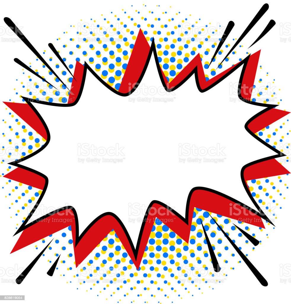Pop art estilo modelo de bolha do discurso para seu projeto. Estilo de arte pop quadrinhos vazio bang forma em uma retícula de cor multi - ilustração de arte em vetor