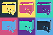 istock Pop art Web design and development concepts icon isolated on color background. Vector Illustration 1270641994
