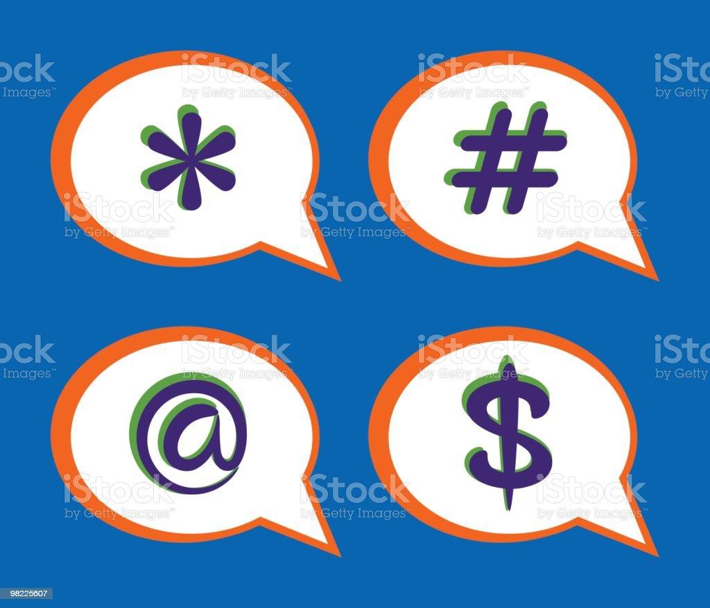 Pop Color Speech Bubbles royalty-free pop color speech bubbles stock vector art & more images of 'at' symbol