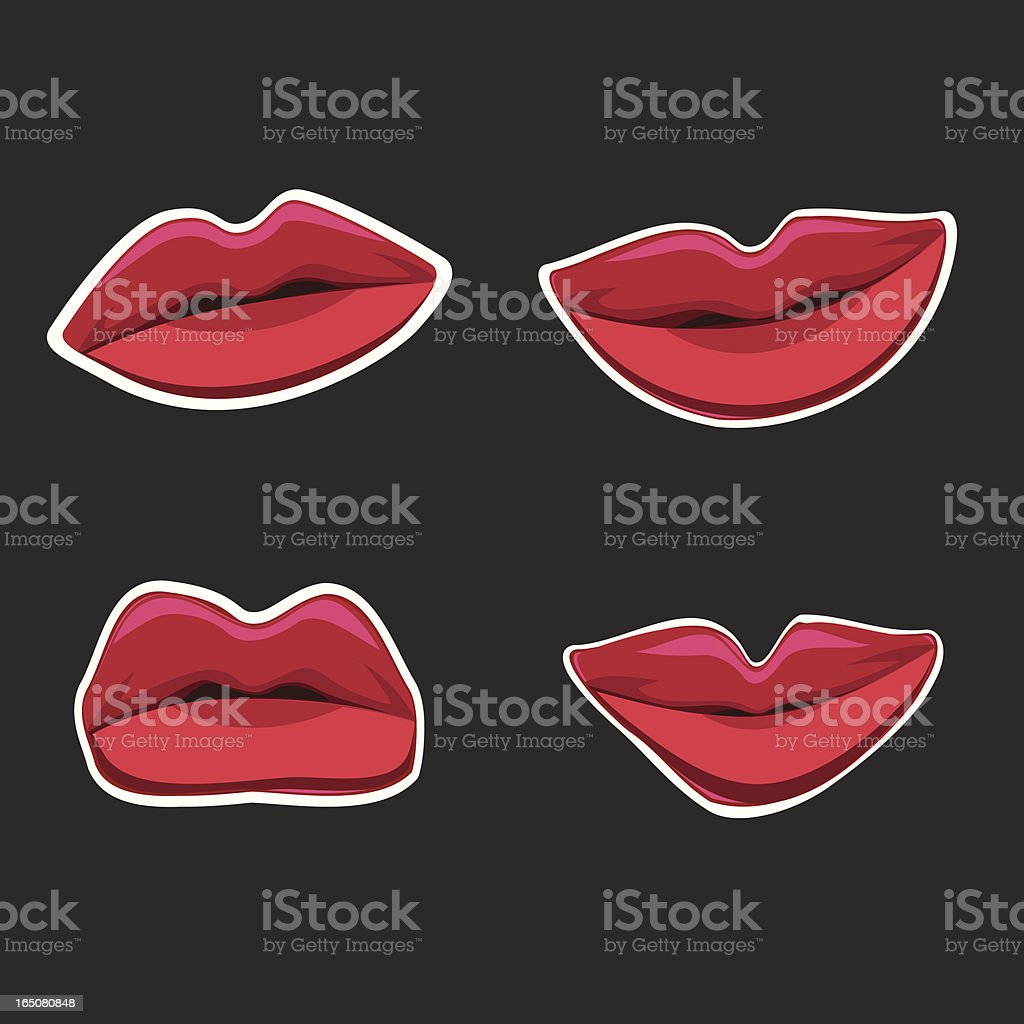 Pop Lips vector art illustration