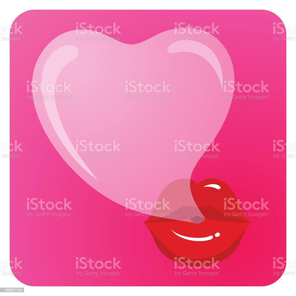 Amor bubblegum Pop ilustración de amor bubblegum pop y más banco de imágenes de adulto libre de derechos