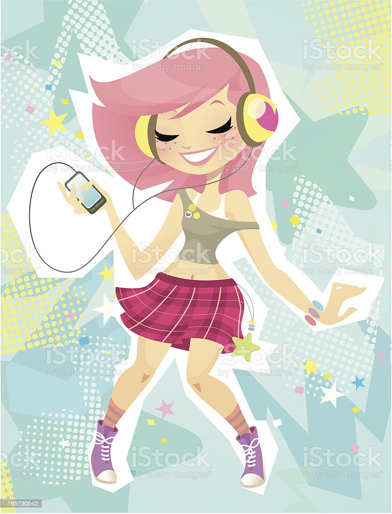 Pop Music vector art illustration