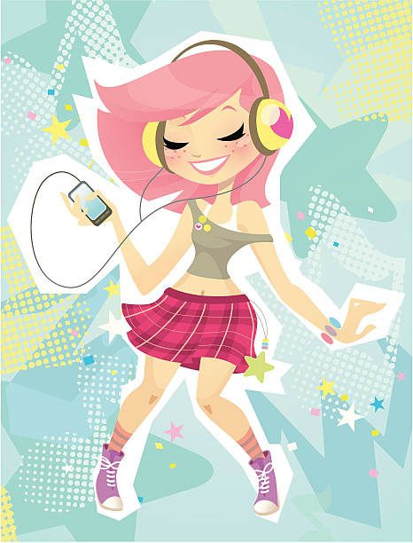 pop music - chihhang stock illustrations