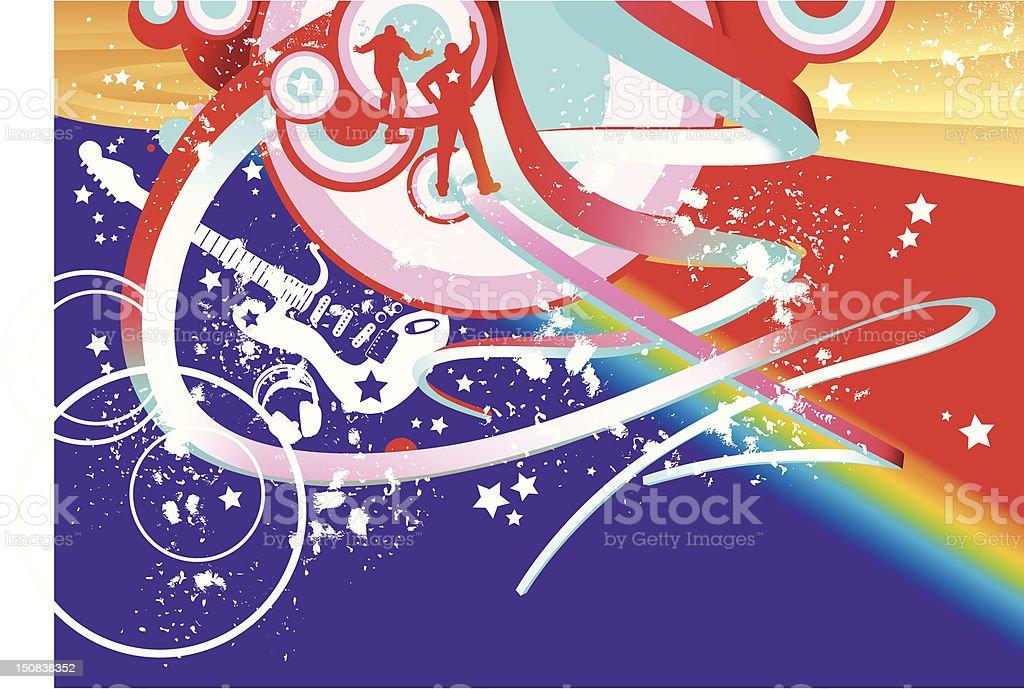 Pop Star vector art illustration