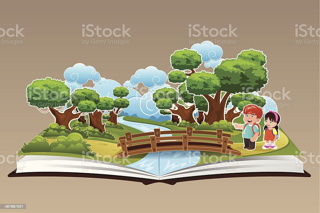 Pop Up Book with a Forest Theme