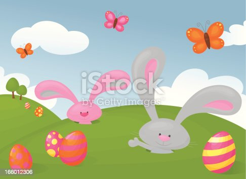 Bunnies pop out their burrows to welcome in Easter.