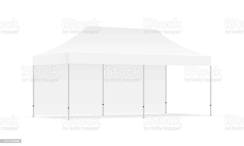 Pop Up Canopy Tent With One Wall Isolated Stock Vector Art More Images Of Advertisement Istock