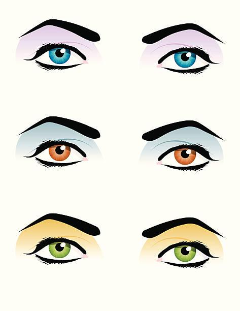 ilustraciones, imágenes clip art, dibujos animados e iconos de stock de pop-art de los ojos - ojos azules