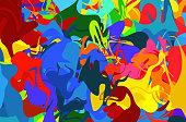 pop-art   multi-color pattern