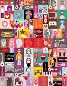 Pop-art vector collage