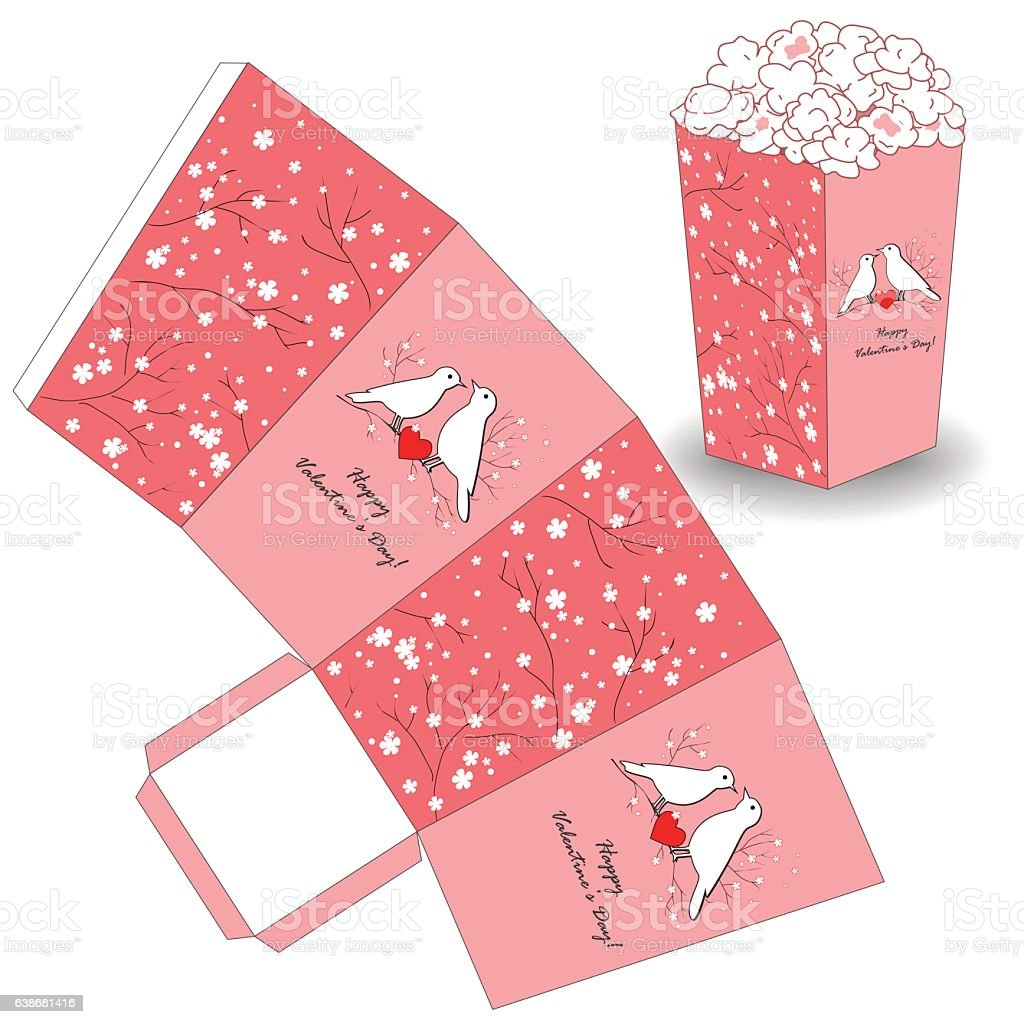 Popcorn bucket template for valentines day stock vector art more popcorn bucket template for valentines day royalty free popcorn bucket template for valentines day stock maxwellsz