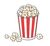 Popcorn bucket box isolated