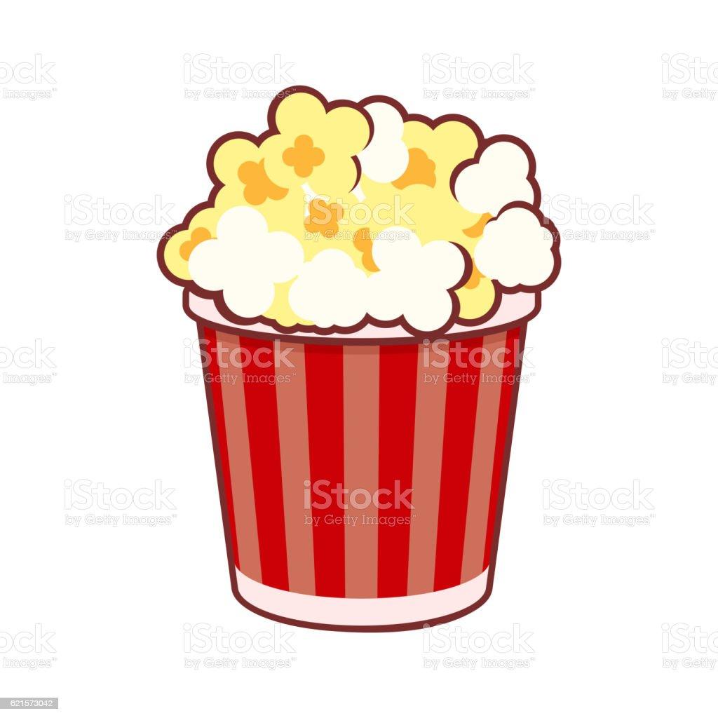 Popcorn. Cinema Icon on White Background. Vector popcorn cinema icon on white background vector – cliparts vectoriels et plus d'images de accessoire libre de droits