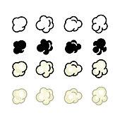 istock Popcorn icon, vector line illustration 1163870053