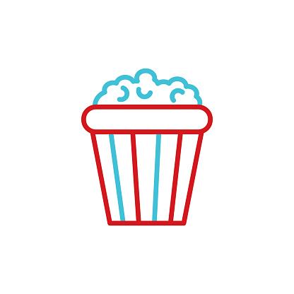 Popcorn line icon. Editable Stroke