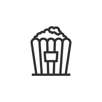 Popcorn Line Icon