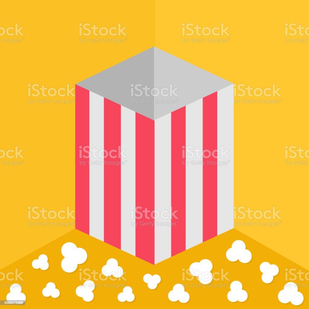 Popcorn On The Floor Red Yellow Strip Square Empty Paper Box Cinema ...