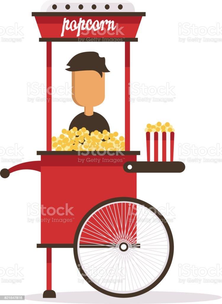royalty free popcorn machine clip art vector images illustrations rh istockphoto com Funny Popcorn Cotton Candy Machine