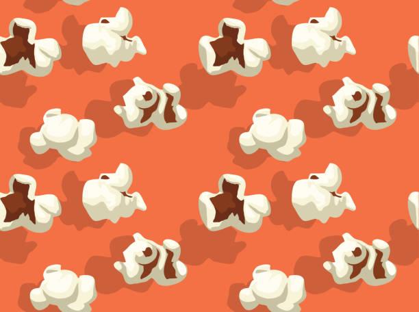 ilustrações, clipart, desenhos animados e ícones de pipoca papel de parede de fundo forma vários - pipoca