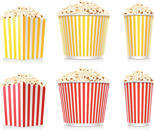 stockillustraties, clipart, cartoons en iconen met popcorn - popcorn