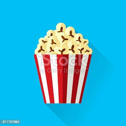 Vector illustration of popcorn.