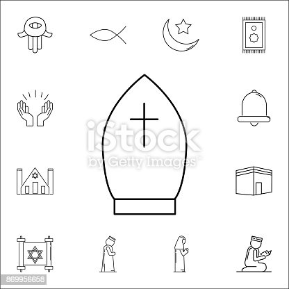Pope hat icon set of religion icons web icons premium quality pope hat icon set of religion icons web icons premium quality graphic design signs outline symbols collection simple icons for websites web design mobile maxwellsz