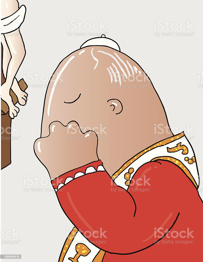 pope preying royalty-free stock vector art