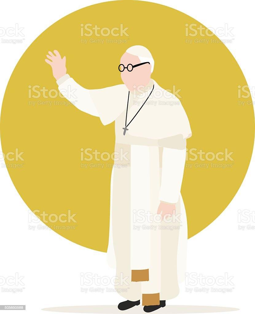 Pope vector art illustration