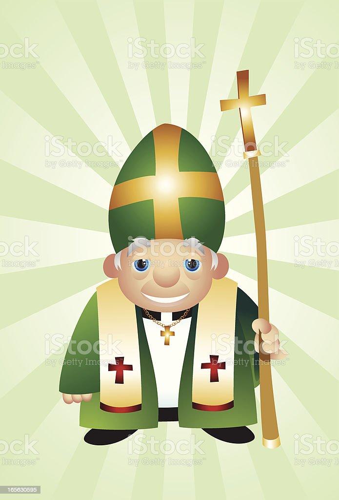Pope Vector Illustration royalty-free stock vector art