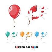 popped balloon.
