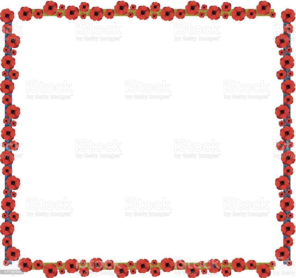 Poppies Frame C vector art illustration